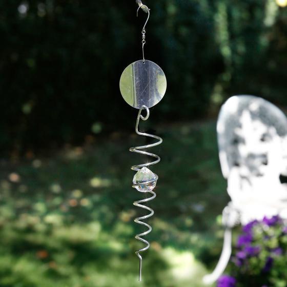 Windspiel Spiral, 40x6x6 cm, Edelstahl