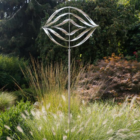 Windspiel Wave, 170x60x50 cm, Edelstahl, silber