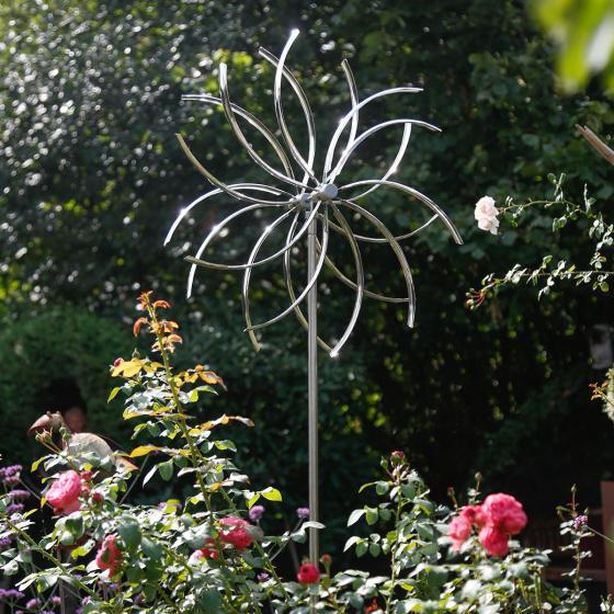 Windspiel Flower, 210x70x15 cm, Edelstahl