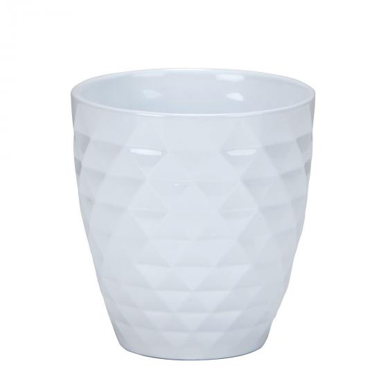 Scheurich Keramik-Orchideengefäß Alaska, rund, 12,3x10x5x10,5 cm, weiß