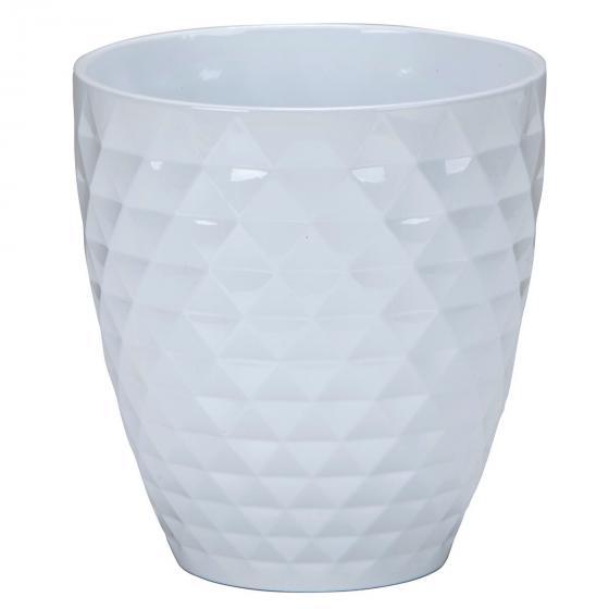 Scheurich Keramik-Orchideengefäß Alaska, rund, 17,3x16,3x16,3 cm, weiß