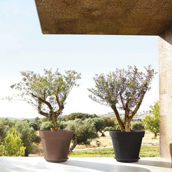 Pflanzkübel Set Capri, 46x40x40 cm, anthrazit