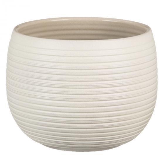 Scheurich Keramik-Übertopf, rund, 14x18x18 cm, Cream Stone
