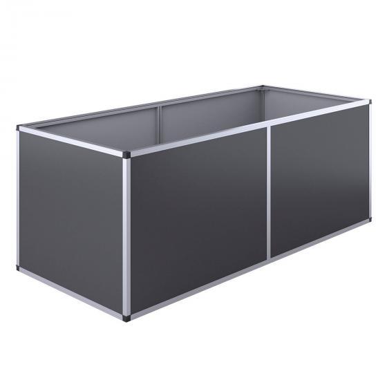 KGT Aluminium-Hochbeet 210, anthrazit /silber, 205x91x77 cm