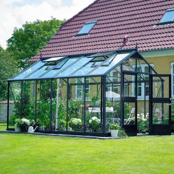 Gewächshaus Premium 13,0 m², anthrazit