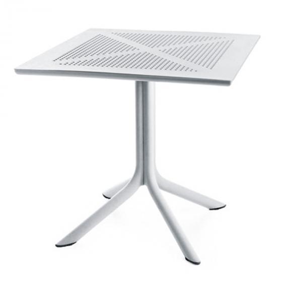Best Tisch Florida quadratisch, 75x80x80 cm, Polypropylen, weiß