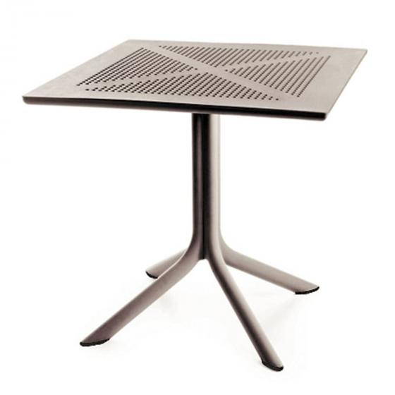 Tisch Florida quadratisch, 75x80x80 cm, Polypropylen, taupe