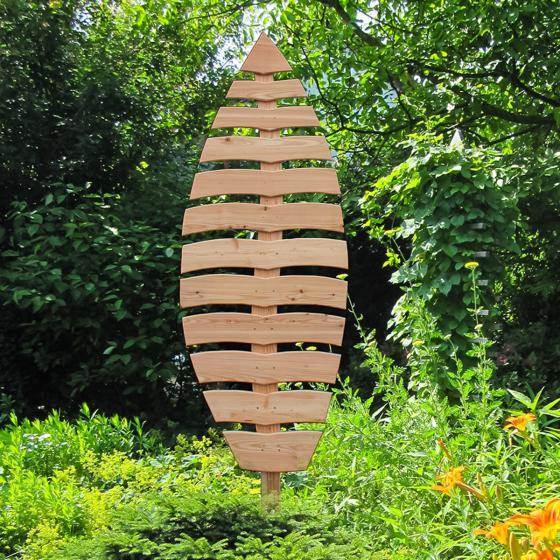 Rankgitter Blatt basilium, 199x68 cm, Lärchenholz, natur