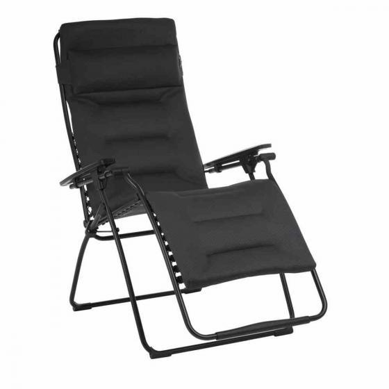Gartenstuhl Relax Futura XL, inklusive Auflage, schwarz