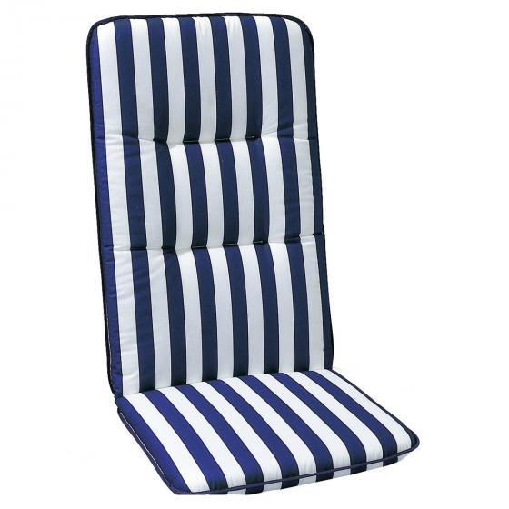 Best Hochlehner Auflage Porto, gestreift, 120x50x6 cm, blau weiss