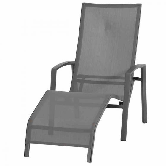 Gerona Sonnenliege, 103x68x148 cm, Aluminium, grau