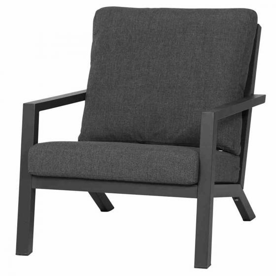 Lounge-Sessel Belia, 81x79x91 cm, Aluminium, anthrazit