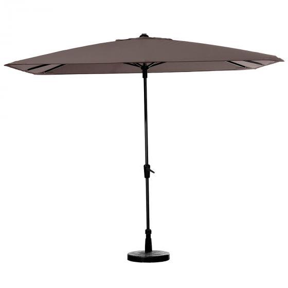 Sonnenschirm Round Corner, 280 cm x 280 cm, braun