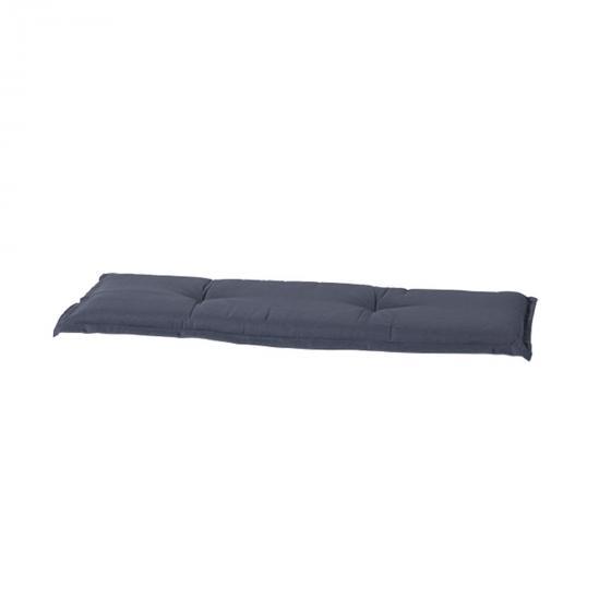 Bankauflage Panama, 150 cm x 48 cm, grau