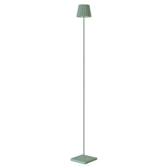 Akku Stehleuchte Troll, 120x15x15 cm, Aluminium, grün