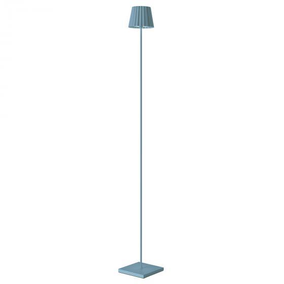 Sompex Akku Stehleuchte Troll, 120x15x15 cm, Aluminium, blau