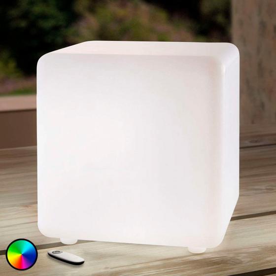 LED-Leuchtwürfel Insira, RGB-Farbwechsel, 30 cm