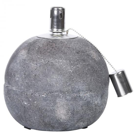 Esschert Design Tischöllampe Stone, 21x18x18 cm, Beton, Edelstahl, grau