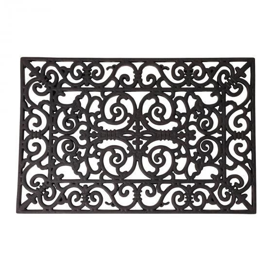 Fußmatte Kaiserli, 1,7x40x70 cm, Gummi, schwarz
