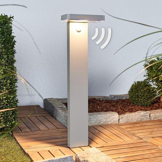 LED-Sockelleuchte Maik mit Bewegungsmelder, 60x18x13 cm, Kunststoff,  grau