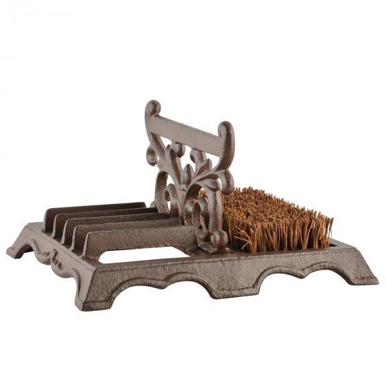 Schuhbürste Lyon, 14x27x22 cm, Gusseisen, braun