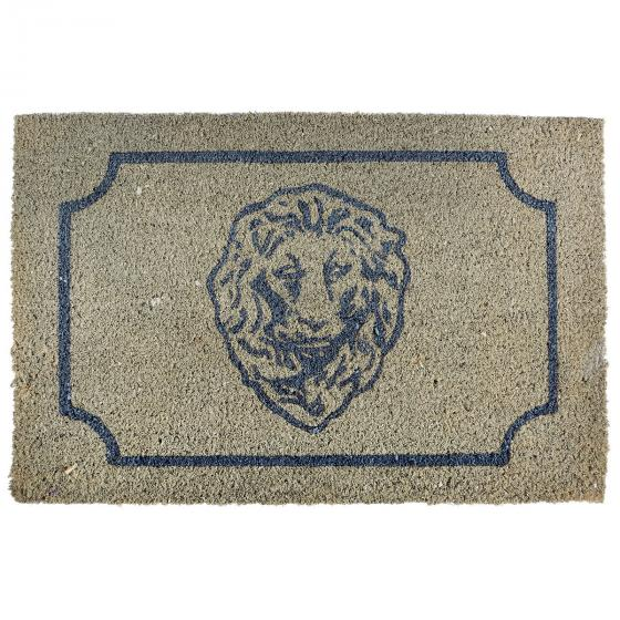 Fußmatte Rom, 1,6x61x40 cm, Kokosfaser, beige