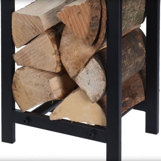 Brennholzregal Amsterdam, 59x30x22 cm, Metall, schwarz