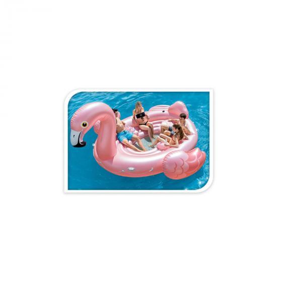 Party-Luftmatratze Flamingo XXL, 185x422x373 cm, pink