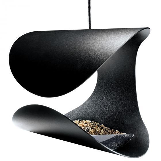 Gardenlife Futterhaus Stuhl, 23x19x19 cm, Stahl, schwarz