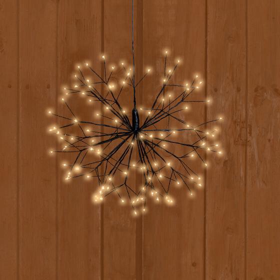 LED-Stern Firework, 45 cm, Metall, schwarz