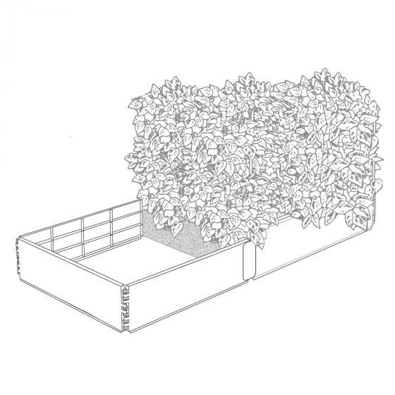 Erweiterungsset  zu  Hochbeet Grow, 2 Paneele 97,5 x 25 cm, schwarz