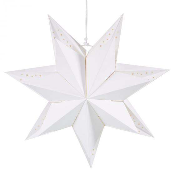 Papierstern, 40cm, weiß