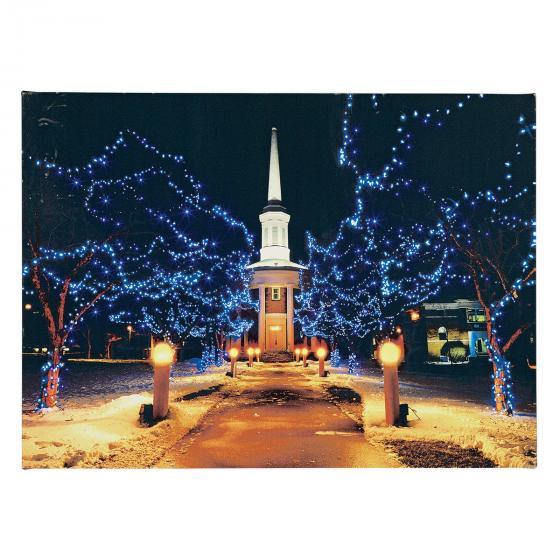 LED-Bild Winterpark, 50x2,5x36,5 cm, bunt