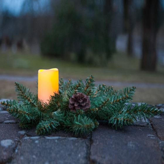 Star LED-Tannengesteck Serene, 33x33x12 cm, Kunststoff, grün