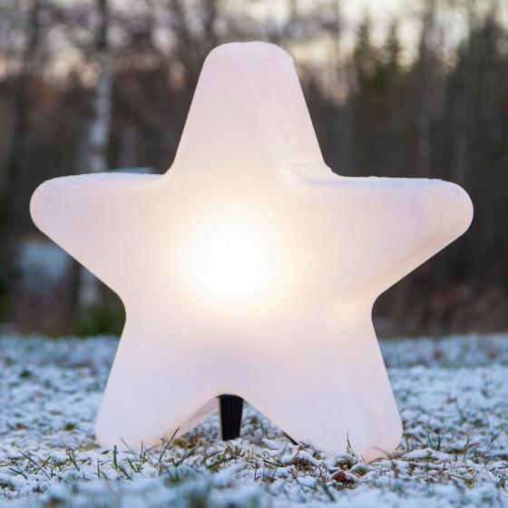 LED-Stern Gardenlight, 48x50x15 cm, Kunststoff, weiß