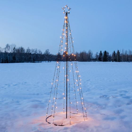 LED Lichterbaum Light Tree, 75x210 cm, Metall, schwarz