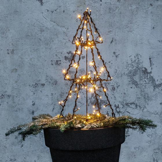 Star LED-Lichterbaum Foldy, 50x30x30 cm, Metall, schwarz