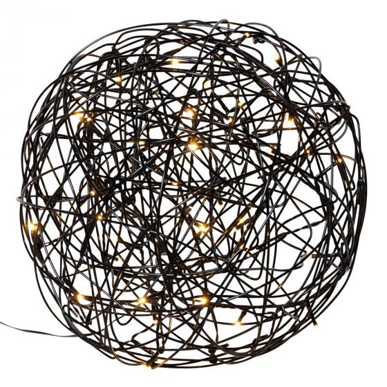 LED-Designkugel Galax, 30 cm, Aluminium, schwarz