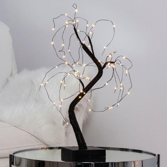 Star LED-Baum Willy, 40x25x20 cm, Kunststoff und Metall, schwarz
