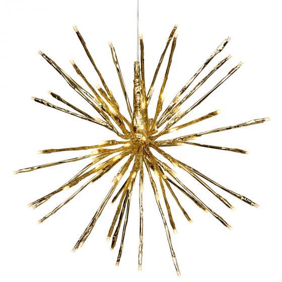 Star LED-Leuchtstern Winter-Feuerwerk, 40 cm, Metall und Kunststoff, gold