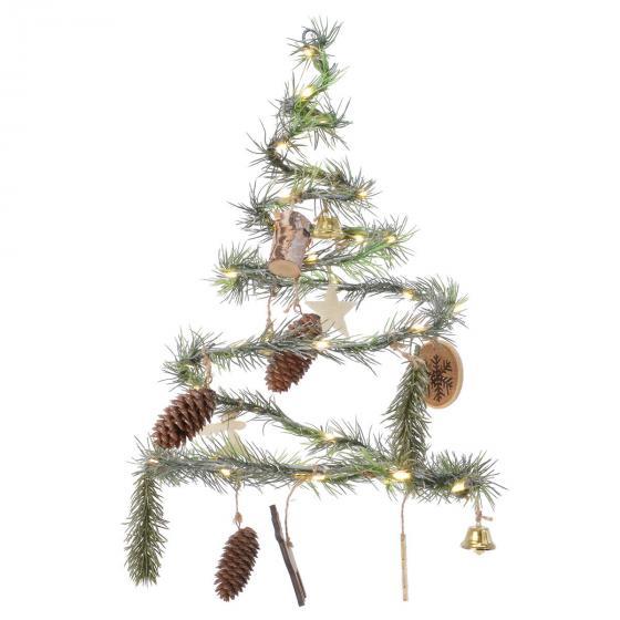 LED-Weihnachtsbaum Natural Christmas, 29 cm, Metall, grün