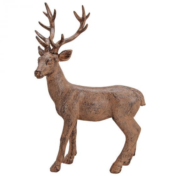 Hirsch stehend, 32x10x50 cm, Polyresin, braun