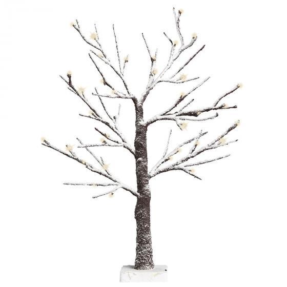 LED-Baum mit Schneeeffekt, braun