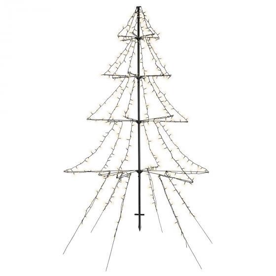 LED-Tannenbaum Light-up, 200 cm, Metall, schwarz