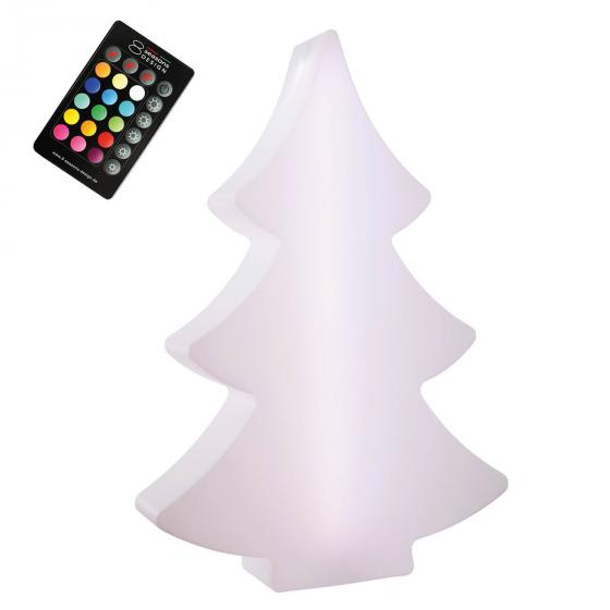 8 Season LED Shining Tree, 113x79x20 cm, Polyethylen, weiß