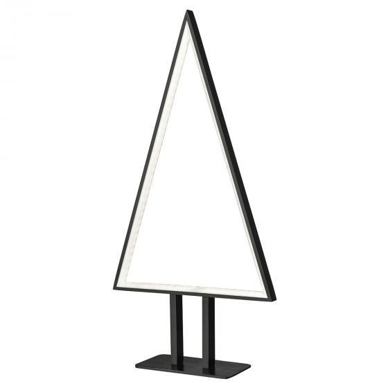 LED-Tischleuchte Pine, 50x25x8 cm, Aluminium, schwarz