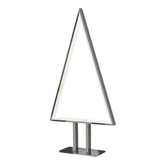 LED-Tischleuchte Pine, 50x25x8 cm, Aluminium, silber