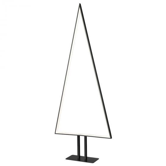 LED-Tischleuchte Pine, 10x50x10 cm, Aluminium, schwarz