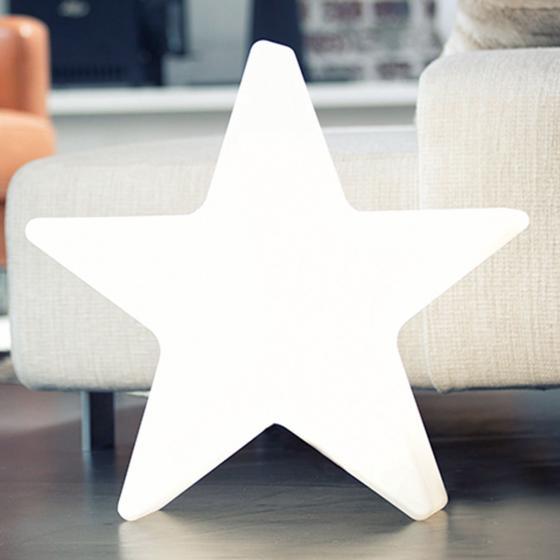 8 Season LED Shining Star, 37x38x10 cm, Polyethylen, weiß
