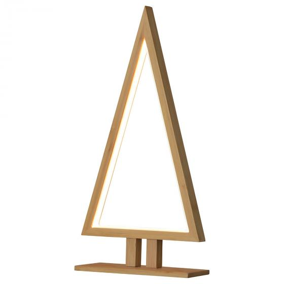 LED-Tischleuchte Pinewood, 38x20x6 cm, Holz, natur